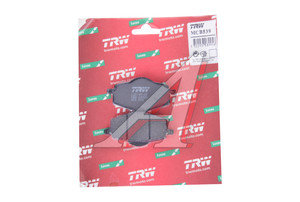Колодки тормозные мото YAMAHA YBR125 (05-06) передние (2шт.) TRW MCB539,