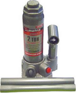 Домкрат бутылочный 2т 181-345мм MATRIX 50715