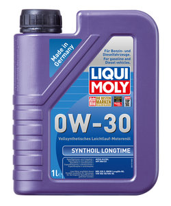 Масло моторное SYNTHOIL LONGTIME 1л LIQUI MOLY LM SAE0W30 1171