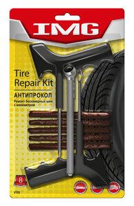 Набор для ремонта бескамерных шин (шило, игла, 5 жгутов самовулканизирующихся черных) VICTOR VICTOR V110, V110