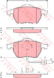 Колодки тормозные VW Sharan (96-02) (2.0/2.8/1.9 D) FORD Galaxy (00-06) (1.9D) передние (4шт.) TRW GDB1440, 7M3698151