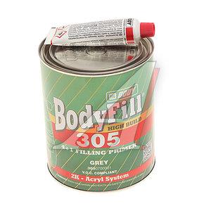 Грунт серый Body 305 HS 4:1 2К 1л с отвердителем Body H725 0.25л BODY BODY, 90995