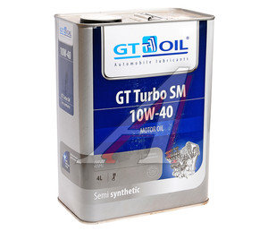 Масло моторное GT TURBO SM п/синт.4л GT OIL GT OIL SAE 10W40
