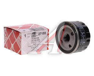 Фильтр масляный RENAULT Logan (1.4/1.6) FEBI 27155, OC309, 7700274177