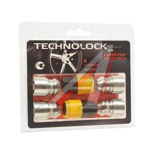 Гайка колеса М12х1.25х36 секретки конус закрытая комплект 4шт. 2 головки 19/21мм TECHNOLOCK TECHNOLOCK R, R