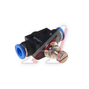 Фитинг для пластиковых трубок 10x10мм с металлическим регулятором ROCK FORCE RF-SPA10