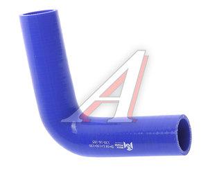 Патрубок угловой синий силикон (d=38, L=150х150) Патрубок D=38*