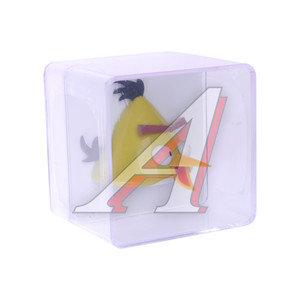 Ароматизатор на дефлектор пластик-пропитка (ваниль) фигура Птица желтая Angry Birds 3D PRIDE 073027, AB027