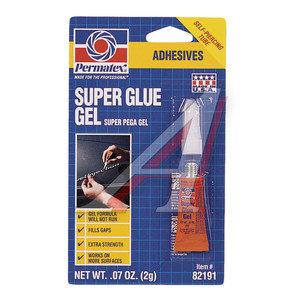 Клей-супер универсальный гель 2г Super Glue Gel PERMATEX PERMATEX 82191/(12), PR-82191