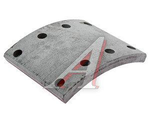 Накладка тормозной колодки МАЗ сверленая расточенная, толщина 16мм 54326-3501105-02, 54326-3501105