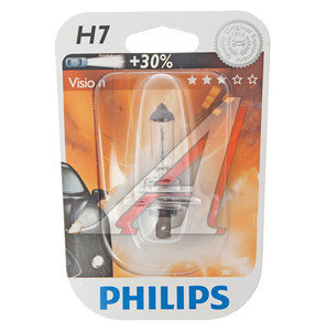Лампа H7 12V 55W +30% Premium блистер PHILIPS 12972PRB1, P-12972PRбл, АКГ 12-55 (Н7)