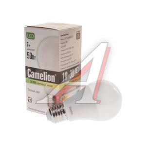 Лампа светодиодная E27 A60 7W (65W) теплый CAMELION Camelion LED 7-A60/830/E27, 11253