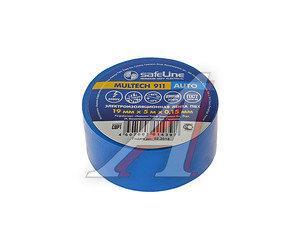 Изолента ПВХ синяя 19ммх5м Auto SAFELINE 10772, SAFELINE 19х5