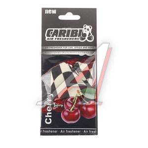 Ароматизатор подвесной пластина (вишня) флаг Formula-1 CARIBI CRB-F1 вишня