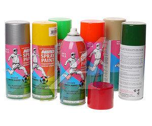 Краска черная матовая аэрозоль 473мл Spray Paint ABRO ABRO 12-R, 012-R
