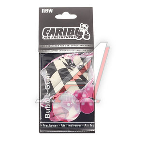 Ароматизатор подвесной пластина (bubble gum) флаг Formula-1 CARIBI CRB-F1 жвачка,