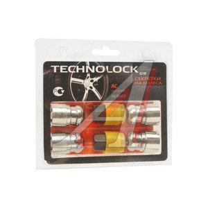 Гайка колеса М12х1.5х36 секретки сфера закрытая комплект 4шт. 2 головки 19мм TECHNOLOCK TECHNOLOCK AC, AC