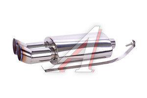 Глушитель DTM двухтрубный универсальный d=58мм PRO SPORT RS-01655