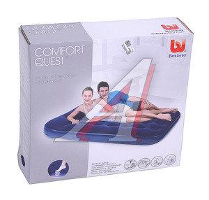 Кровать надувная 193х142х23см 2-х местная встроенный ножной насос флок 67225, 87929