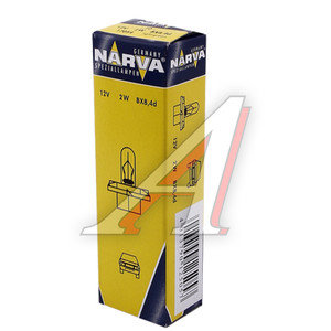 Лампа 12V 2W Bax8.4d зеленый патрон NARVA 17054, N-17054
