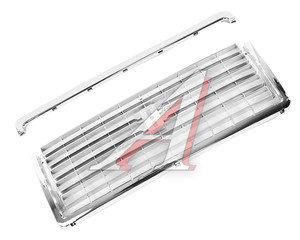 Облицовка радиатора ВАЗ-2107 хром с молдингом комплект ДААЗ 2107-8401014