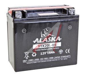 Аккумулятор ALASKA 18А/ч мото 6СТ18YTX20L-BS