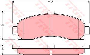 Колодки тормозные NISSAN Micra (1.0/1.5D) (92-03) передние (4шт.) TRW GDB1059, 41060-6F625/41060-6F626/41060-99B25/41060-99B26