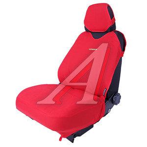 Авточехлы (майка) полиэстер на передние сиденья красные (4 предм.) Sport Plus AUTOPROFI R-402Pf RD