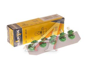 Лампа 24V 1.4W BAX BX8.4d с зеленым патроном NARVA 17082, N-17082