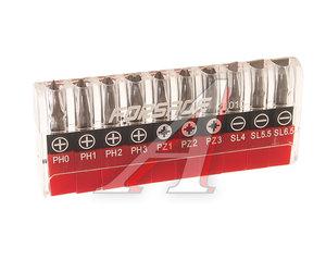 """Набор бит 1/4"""" SL 4-6.5мм PH 0-3 PZ 1-3 в блистере 10 предметов FORSAGE 21010, FS-21010"""