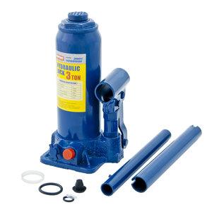 Домкрат бутылочный 3т 194-372мм с клапаном в кейсе MEGAPOWER M-90304S