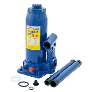 Домкрат бутылочный 5т 216-413мм с клапаном MEGAPOWER M-90504