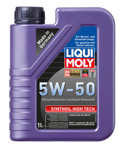 Масло моторное SYNTHOIL HIGH TECH синт.1л LIQUI MOLY LM SAE5W50 9066