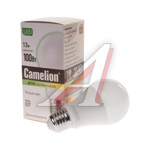 Лампа светодиодная E27 A60 13W (100W) теплый CAMELION Camelion LED13-A60/830/E27, 12045
