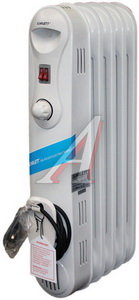 Обогреватель радиатор масляный 1.00кВт (10кв.м) 5 секций белый SCARLETT Scarlett SC-1163,