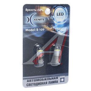 Лампа светодиодная 12V Т4W 1W BA9S белая блистер (2шт.) XENITE B 109(105), 1009228