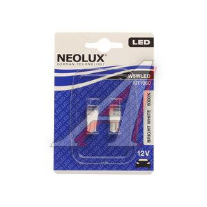 Лампа 12VхW5W (W2.1х9.5d) LED 6000K (блистер) 2шт. NEOLUX N1060-2бл, NL-1060-2бл, А12-5-2