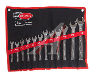 Набор ключей комбинированных 8-24мм 12 предметов в сумке ROCK FORCE RF-5121,