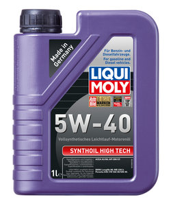 Масло моторное SYNTHOIL HIGH TECH синт.1л LIQUI MOLY LM SAE5W40 1924, 84179