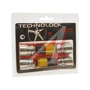 Гайка колеса М14х1.5х36 секретки конус закрытая комплект 4шт. 2 головки 19/21мм TECHNOLOCK TECHNOLOCK AD, AD