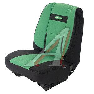 Авточехлы универсальные велюр (поддержка спины) черно-зеленые (11 предм.) Comfort AUTOPROFI COM-1105 BK/GREEN (M)