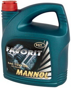 Масло моторное FAVORIT п/синт.5л MANNOL MANNOL SAE15W50, 1135