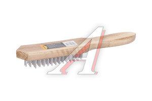 Щетка металлическая 6-ти рядная с деревянной ручкой SPARTA 748265
