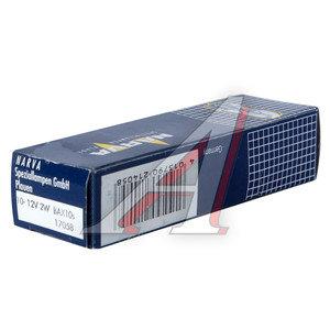 Лампа 12V 2W Bax8.3d голубой патрон NARVA 17058, N-17058