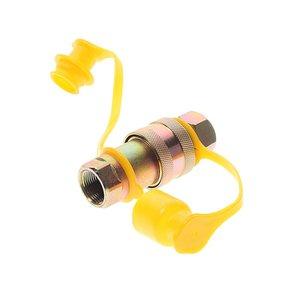 Головка соединительная тормозной системы прицепа 22мм (грузовой автомобиль) желтая комплект NEW FER- 100-3521010/11 (V), 100-3521010/11