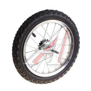 """Колесо велосипедное 14"""" заднее обод сталь хром в сборе 630119"""
