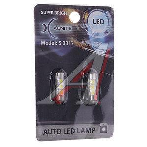 Лампа светодиодная C5W 0.75W SV8.5х31d 12V белая блистер (2шт.) XENITE S 3317, 1009253