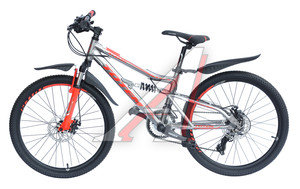 """Велосипед 24"""" 21-ск. двухподвесный дисковые тормоза (AL-рама) серый STEFAN TOTEM T15B114-24 A, T15B114-24,"""