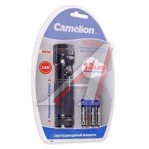 Фонарь 12 светодиодов (алюминий) 12.8см 3хR03 в блистере CAMELION C-5108-12