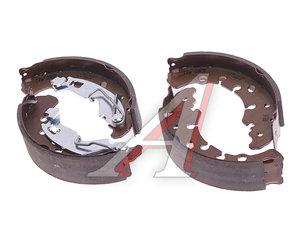 Колодки тормозные OPEL Corsa D (06-) FIAT Punto (05-) стояночного тормоза барабанные (4шт.) TRW GS8720, 1605458/1605107/77364817/77363855